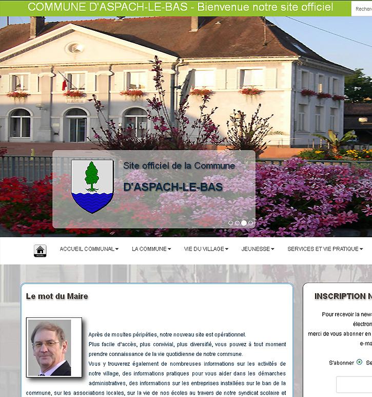 Site officiel Mairie Aspach-le-bas Alsace